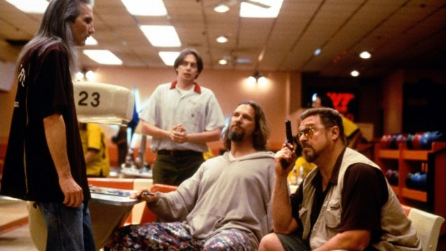 Jeff Bridges, John Goodman, og Steve Buscemi i The Big Lebowski. (Foto: Polygram Filmed Entertainment)