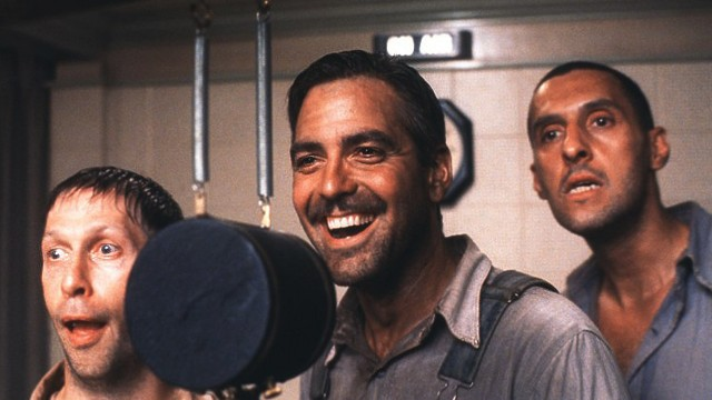 Tim Blake Nelson, George Clooney og John Turturro i O Brother Where Art Thou. (Foto: Touchstone Pictures)