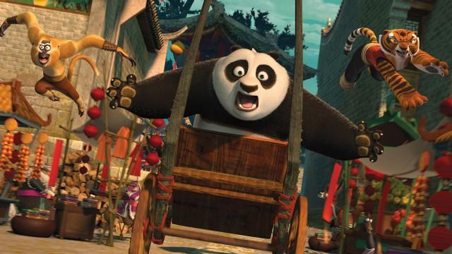 Fartsfull og fargerik action i Kung Fu Panda 2 (Foto: United International Pictures Norway).