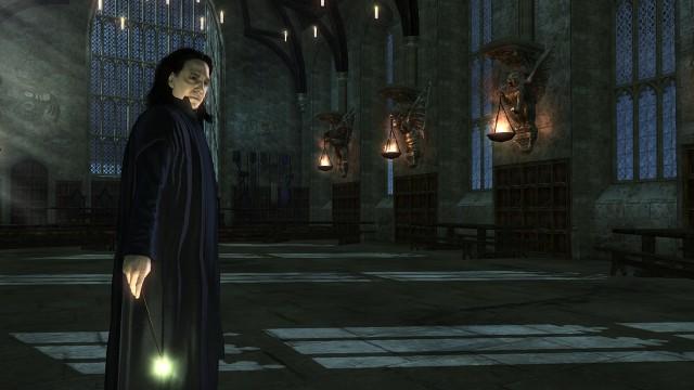 Severus Snape er en av de mange kjente figurene du møter på i spillet. (Foto: EA Games).