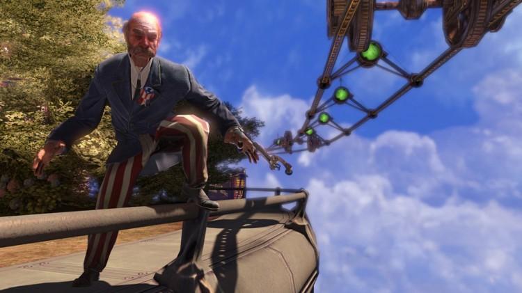 Du må også forbi denne herren i Bioshock Infinite (Foto: 2K/Irrational Games).