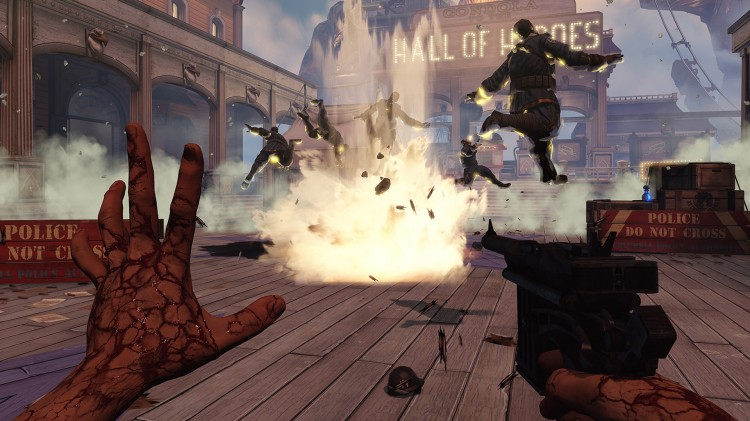 Du kan oppheve tyngdekraften i Bioshock Infinite (Foto: 2K/Irrational Games).