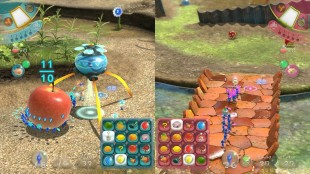 To spillere kan enten samarbeide eller kjempe mot hverandre i «Pikmin 3». (Foto: Nintendo)