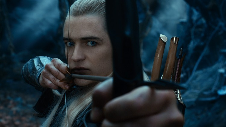 Vi får et gledelig gjensyn med Legolas (Orlando Bloom) i Hobbiten: Smaugs ødemark (Foto: SF Norge).