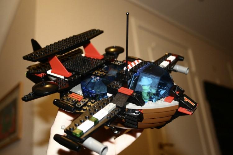 Andreas sitt Lego-skip. S/S Kråka. (Foto: Andreas)