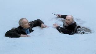 Björn Granath og Bjørn Sundquisti en scene fra filmen «Her er Harold». (Foto: SF Norge)