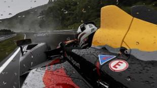 Glinsende regndråper på en racerbil fra Audi i Forza Motorsport 6 (Foto: Microsoft).