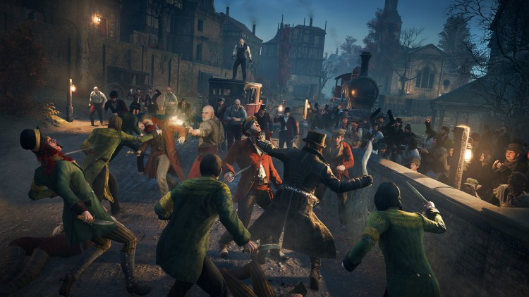Med din egen bande The Rooks skal du forsøke å ta over Londons gater. (Foto: Ubisoft).