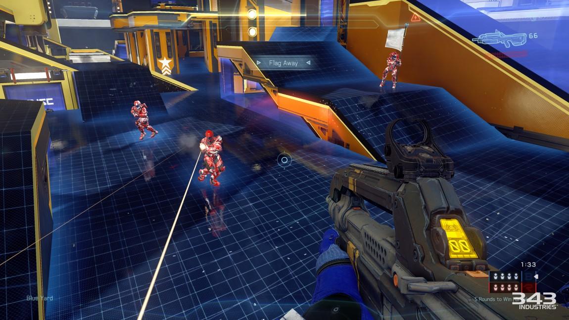 Flerspillerdelen byr på action med høy intensitet på kjente og nye brett. Spillfølelsen fra de gamle «Halo»-spillene berømte er definitivt tilstede. (Foto: Microsoft / 343 Industries)