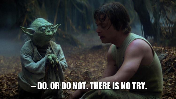 Yoda deler livsvisdom med en ung Luke Skywalker. (Foto: Lucasfilm / Disney)