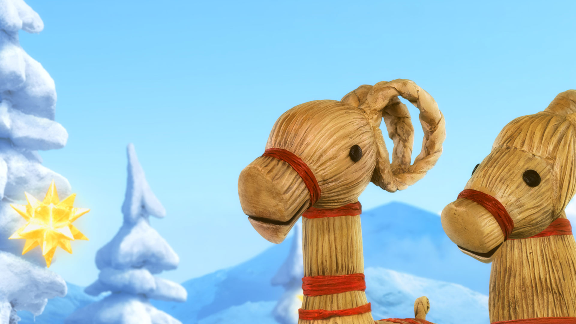 Den magiske juleesken har noen flotte kulisser og gjør smart bruk av tradisjonell skandinavisk julepynt som morsomme rollefigurer. (Foto: KontxtFilm)