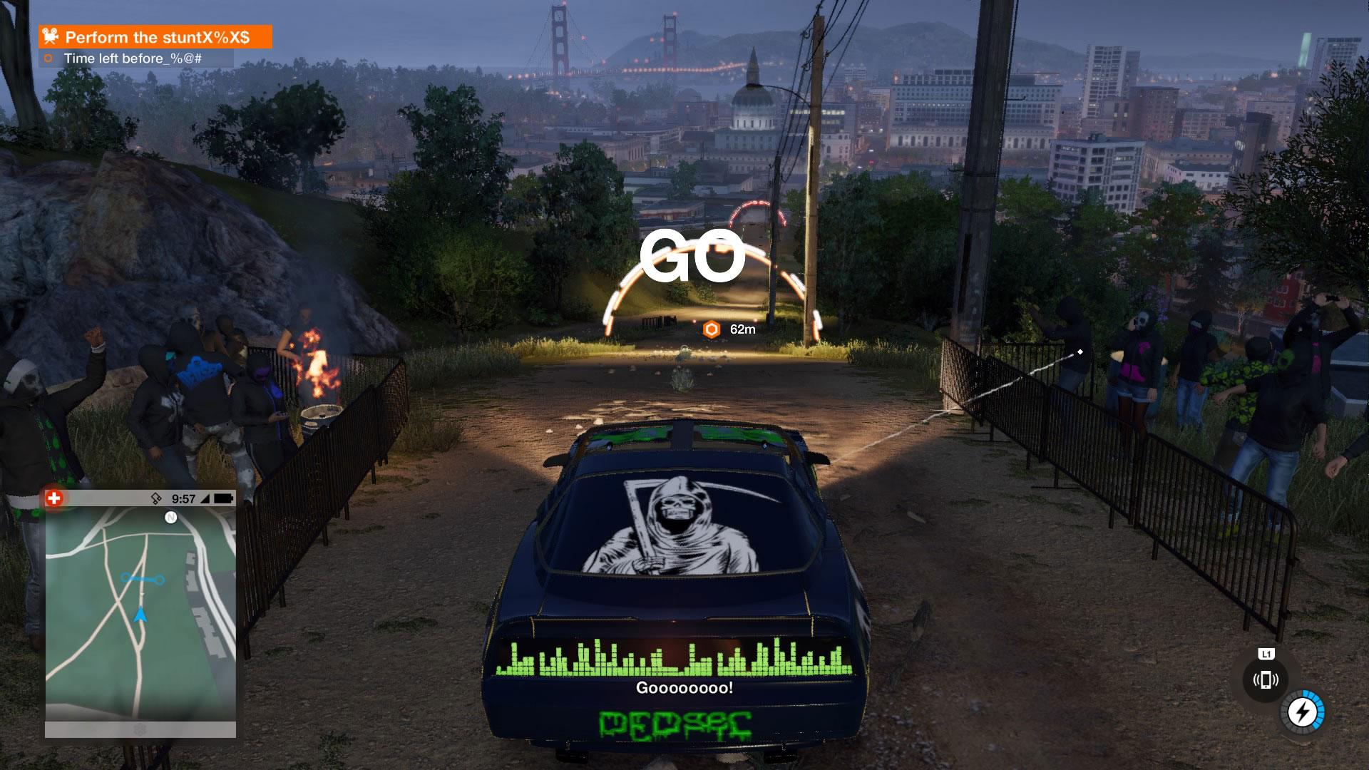 Bilkjøringen er en av flere ting som har blitt forbedret i Watch Dog 2 (Foto: Ubisoft, gameplay Martin Anfinsen)