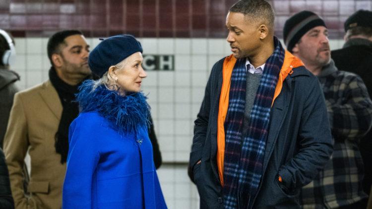 """Howard (Will Smith) blir kontaktet av """"Døden"""" (Helen Mirren) i Collateral Beauty. (Foto: SF Studios)"""