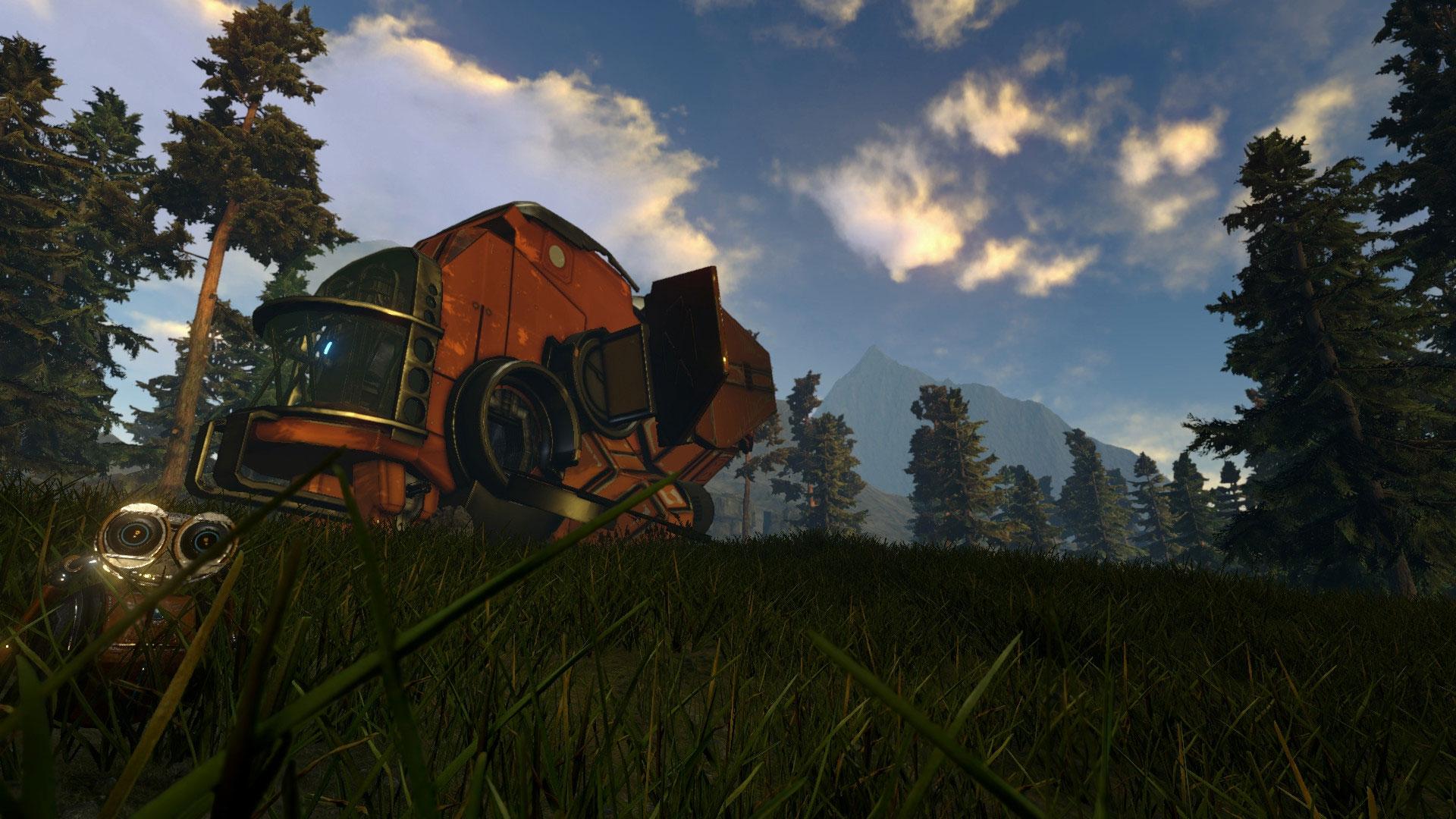 Dialogen mellom de to romskipene står for mye av humoren i spillet.  (Foto: ION LANDS)