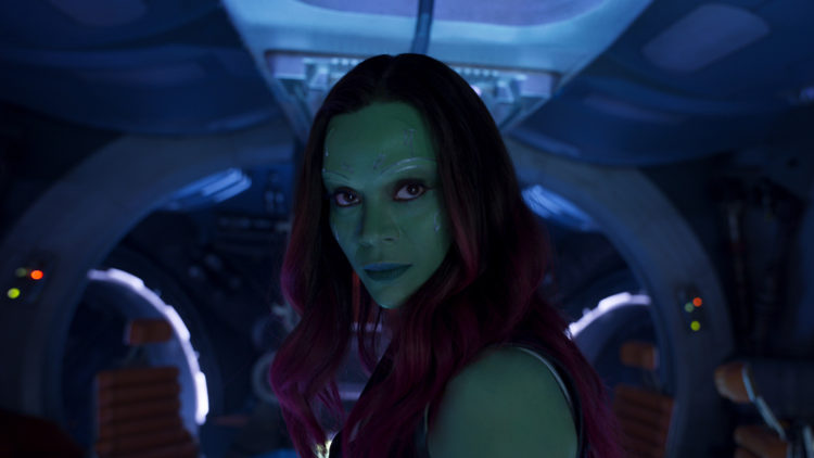 "Zoe Saldana spiller tøffe Gamora i ""Guardians of the Galaxy Vol. 2"". (Foto: ©Marvel Studios 2017)"