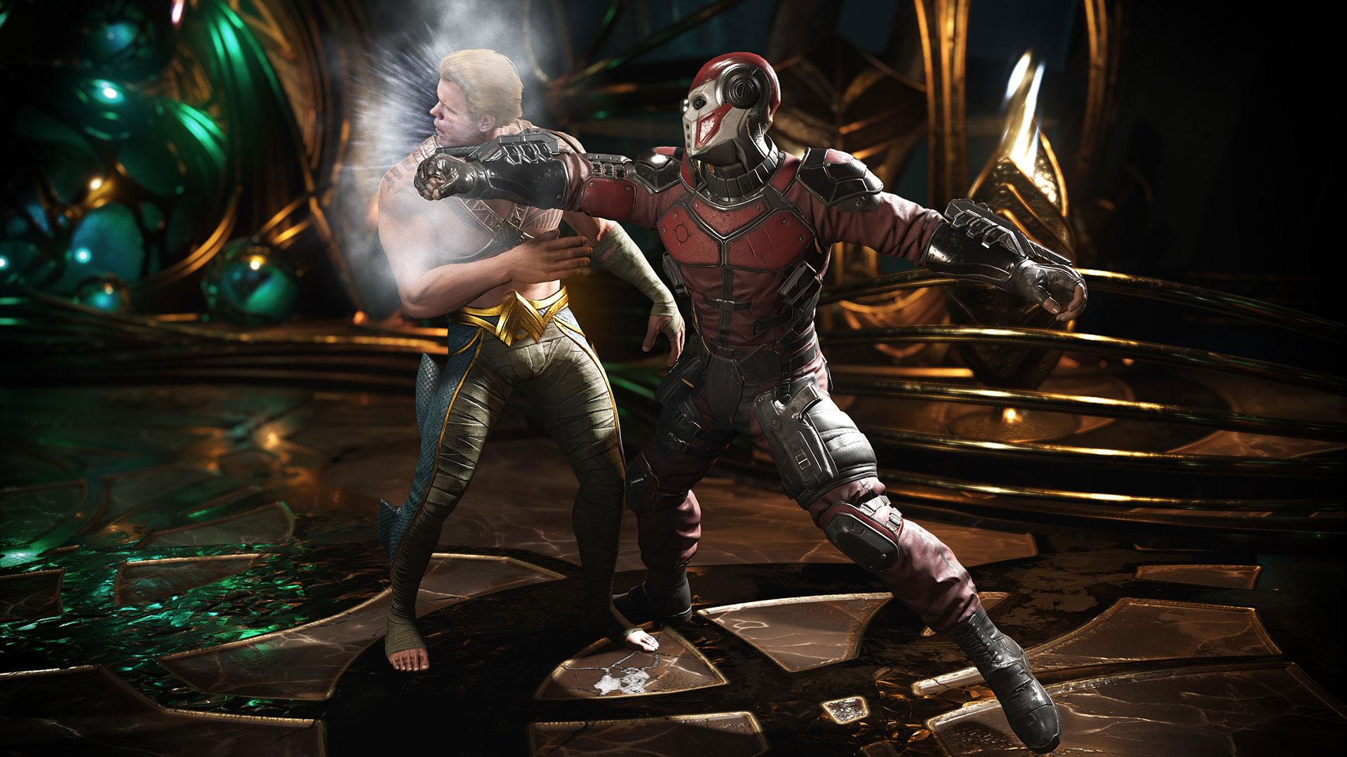Aquaman har en tøff dag på jobben. (Foto: Warner Bros. Interactive Entertainment)
