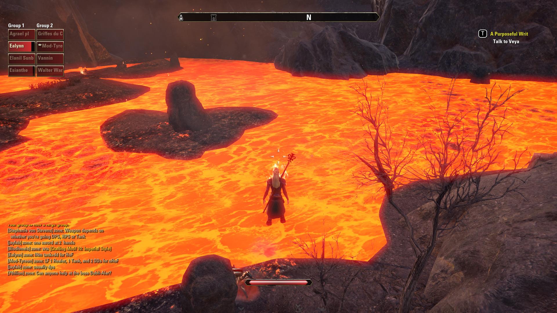 «Oj, der er det noe —» og vips var man på spasertur i nabolagets lavasjø. (Skjermdump: Bethesda)