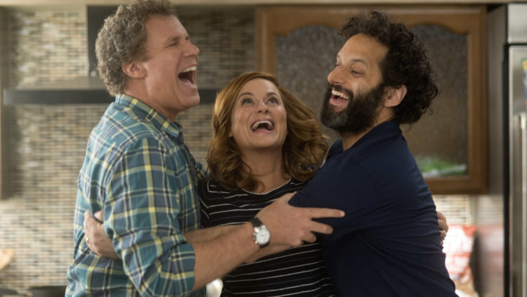 """Scott (Will Ferrell), Kate (Amy Poehler) og Frank (Jason Mantzoukas) starter et ulovlig kasino i i """"The House"""". (Foto: SF Studios)"""