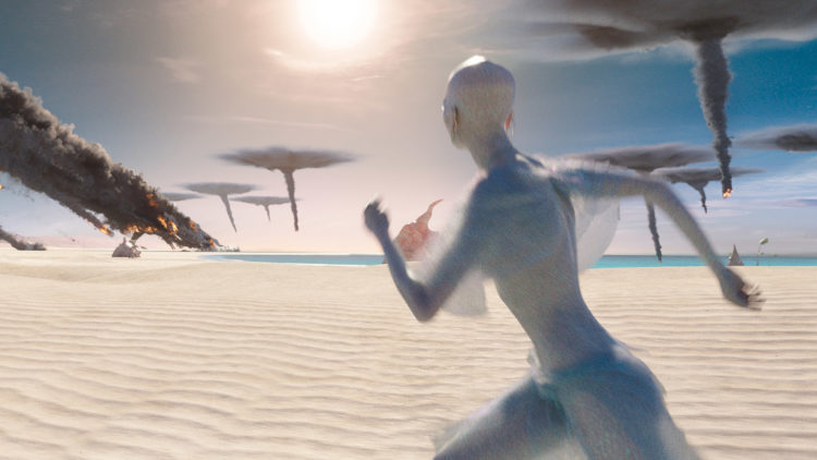 "En fremmed drømmeplanet blir utsatt for noe fryktelig i ""Valerian and the City of a Thousand Planets"". (Foto: United International Pictures)"