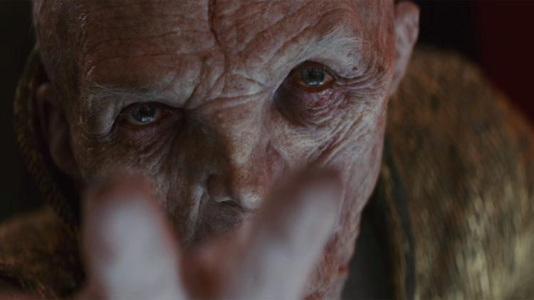 Snoke dukket opp i traileren for Star Wars: The Last Jedi. (Foto: Skjermdump, Walt Disney Company Nordic).