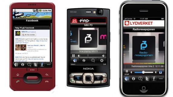 P3-applikasjon til mobil (foto: Kristian Rostad, Nrk)
