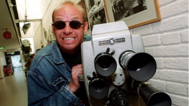 Espen Thoresen i gangene hos NRK 1997 (Foto: Frank Ludvigsen/Scanpix)