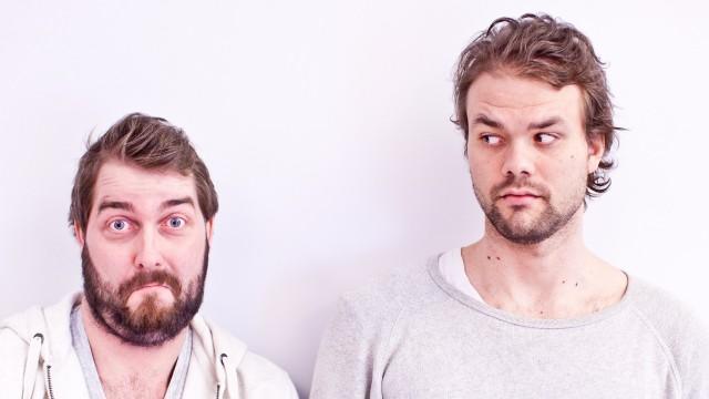 Lars Berrum med skjeggete sidekick Olli Wermskog til venstre. Foto: Mattis Folkestad, NRK P3