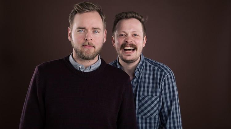Tore Sagen og Einar Tørnquist lager P3-podkast sammen. Foto: Kim Erlandsen/NRK.
